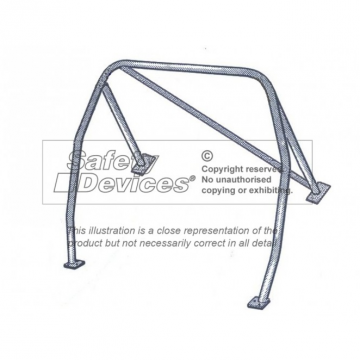 Safety Devices Austin Healey 3000 4 Seater 4 Point Roll Cage