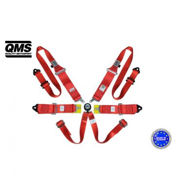 QMS 6 Point HANS FIA Harness Belt