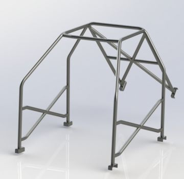 Caged Laser Austin A35 Bolt-In Roll Cage