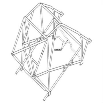 Custom Cages Mini Miglia Multipoint T45 Weld-In Roll Cage