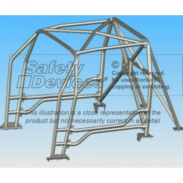 Safety Devices Citroen C2 6 Point Bolt-In Roll Cage