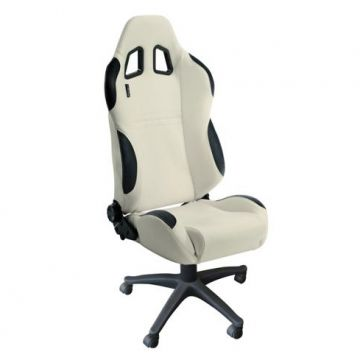 Auto Style Type T White Office Sport Seat