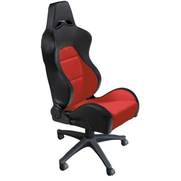 Auto Style Type Eco Black/Red PVC Office Sport Seat