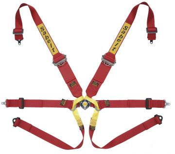 Sabelt Silver Series Ultralight 6 Point Single Seater HANS Harness