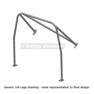 Safety Devices Ford Capri Mk1 Coupe Post '72 Bolt-In Rear Roll Cage