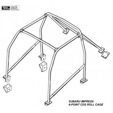 Safety Devices Subaru Impreza GC8 1st Generation 6 Point Bolt-In Roll Cage