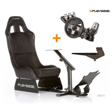 PlaySeats Alcantara Gaming Race Seat with Logitech G27 and Gearshift Holder Pro