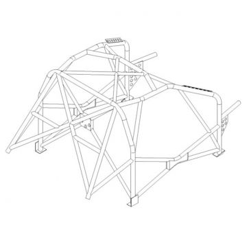 Custom Cages Citroen C2 Multipoint T45  Roll Cage