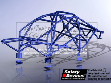 Safety Devices BMW 3 Series E46 Full Weld-in Roll Cage