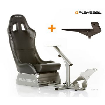 PlaySeats Evolution Black Vinyl Gaming Race Seat with Gearshift Holder Pro
