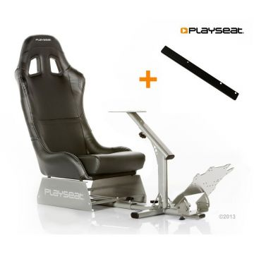 PlaySeats Evolution Black Vinyl Gaming Race Seat with Gearshift Support