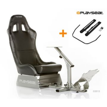 PlaySeats Evolution Black Vinyl Gaming Race Seat with Seat Slider