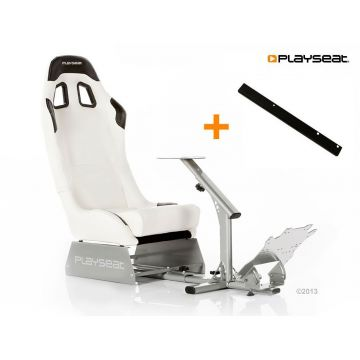 PlaySeats Evolution White Vinyl Gaming Race Seat with GearShift Support