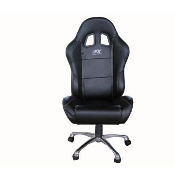 FK Automotive Basic Black Racing Office Chair