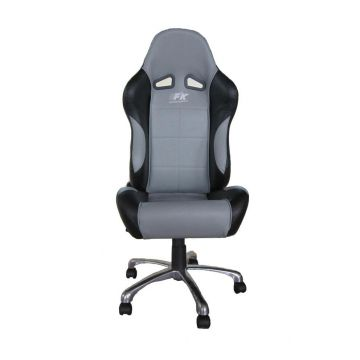 FK Automotive Basic Black/Grey Racing Office Chair