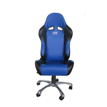 FK Automotive Basic Black/Blue Racing Office Chair