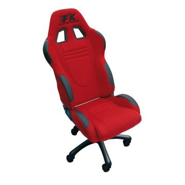 FK Automotive Racecar Red Racing Office Chair