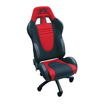 FK Automotive Racecar Black/Red Racing Office Chair