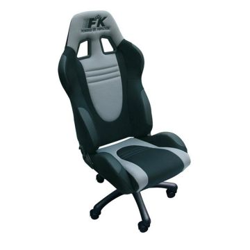 FK Automotive Racecar Black/Grey Racing Office Chair