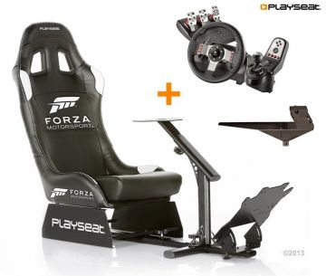 PlaySeats Forza Motorsport Gaming Race Seat with Logitech G27 and Gearshift Holder Pro