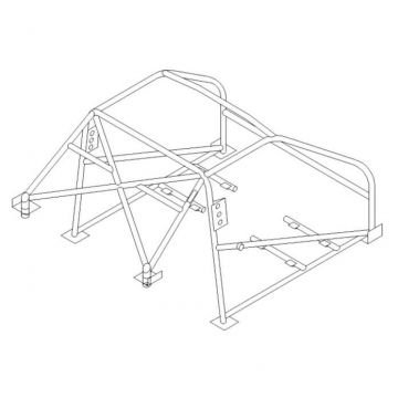 Custom Cages Land Rover Discovery Multipoint CDS Roll Cage