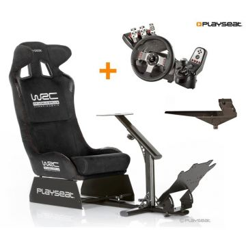 PlaySeats WRC Gaming Seat with Logitech G27 and Gearshift Holder Pro