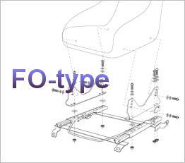 Bride FO-Type Seat Frame Kits